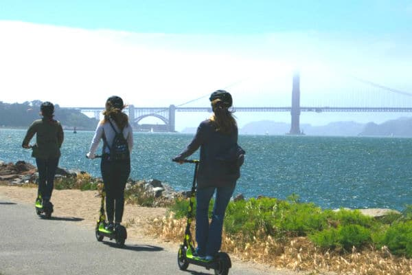 Electric Scooter Waterfront Adventure and Tour 1.5 Hours
