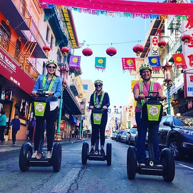 Get out and explore the hidden alleys of Chinatown on our very popular private Vip Segway tours. Groups from 2 to 80 segway through the city with your own private guides. Amazing routes, iconic sights and great stories of the city - starting in either @fishermanswharf or in .