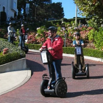Segway down the Crookedest Street in San Francisco CA